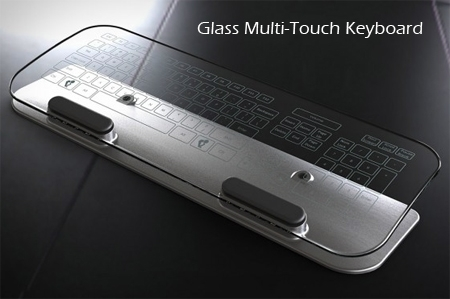 transparent keyboard mouse glass